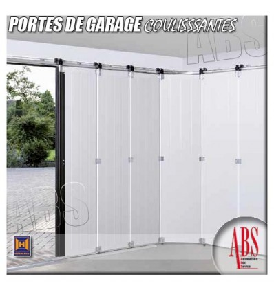 portes de garage coulissantes d placement lat ral abs. Black Bedroom Furniture Sets. Home Design Ideas