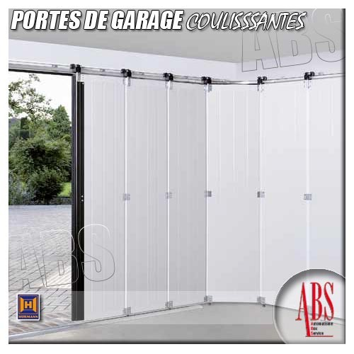 Portes de garage coulissantes d placement lat ral abs for Porte de garage enroulable isolante