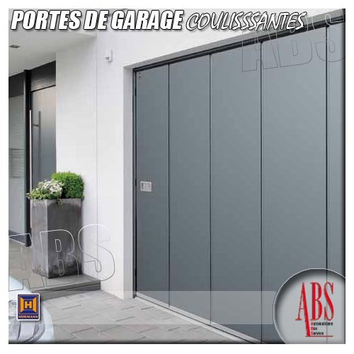 Portes de garage coulissantes d placement lat ral abs - Portes garage coulissantes ...