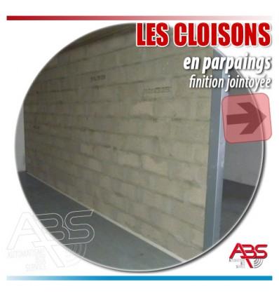 Réalisation de cloisons parpaings pour boxes en sous-sol