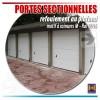 Portes de garage sectionnelles Hormann, installation en extérieur