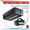 Moteur de portes de garage avec alimentation sur batterie