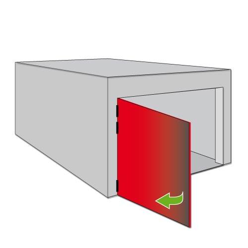 Portes de garage battantes box for Porte qui s ouvre vers l exterieur