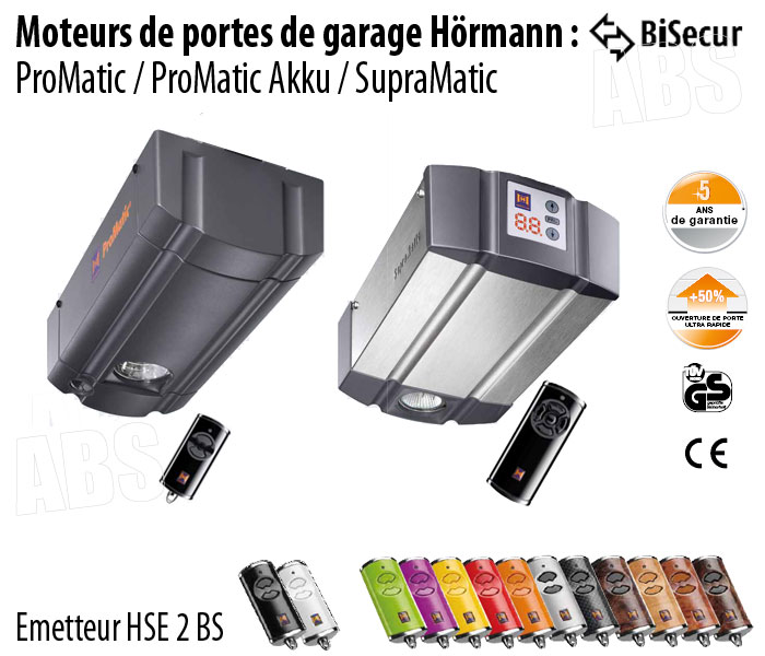 Motorisation porte de garage hormann abs boutique for Hormann porte de garage prix